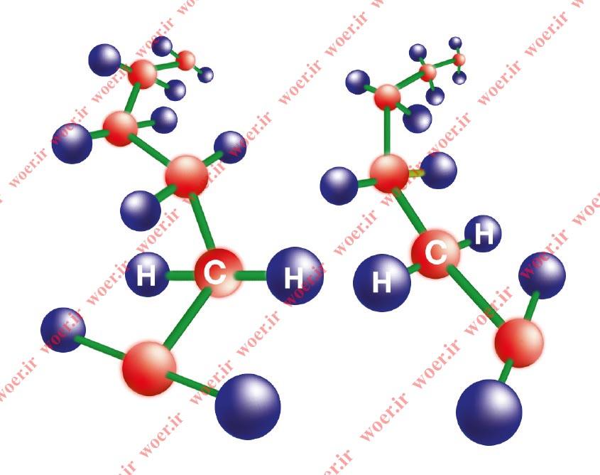 ساختار مولکولی روکش حرارتی قبل از کراس لینک WOER