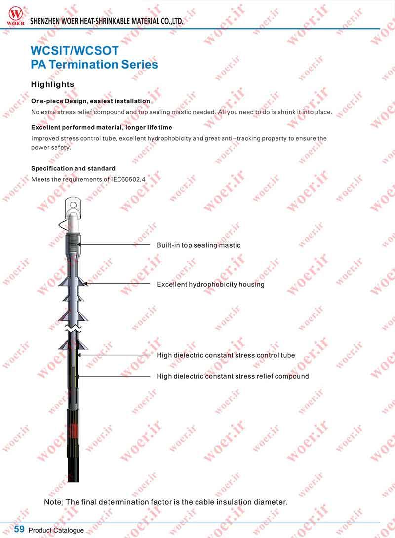 سرکابل سرد فنری فشار متوسط تا 36 کیلوولت